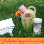 My Healthy Home Repurposed Cleaning Caddy for Earth Day