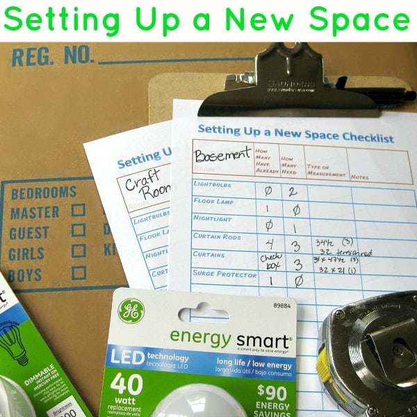 Setting Up a New Space Checklist - Organized 31