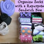 Organize Socks with a Repurposed Sandwich Box - Organized 31