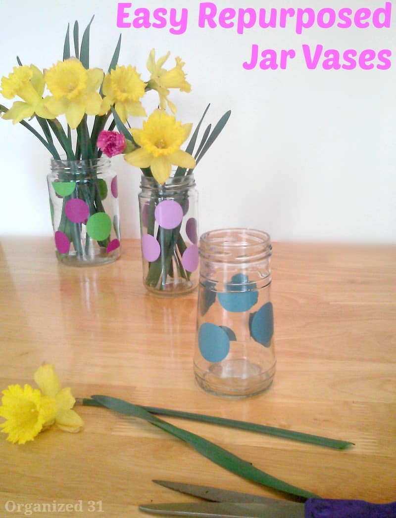 Repurposed Jar Vase - Organized 31