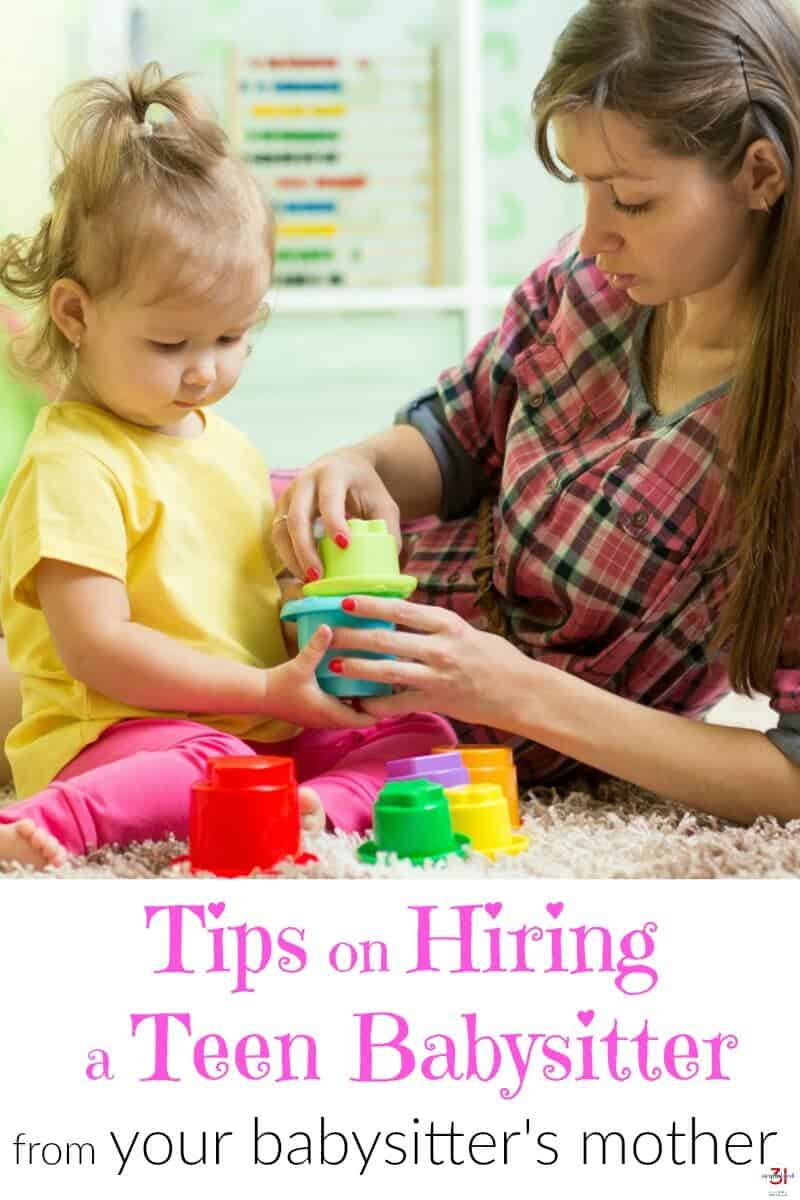 Tips on hiring a teen babysitter. What the mother of your babysitter wants you to know for the safety of and to take good care of your child and your babysitter.