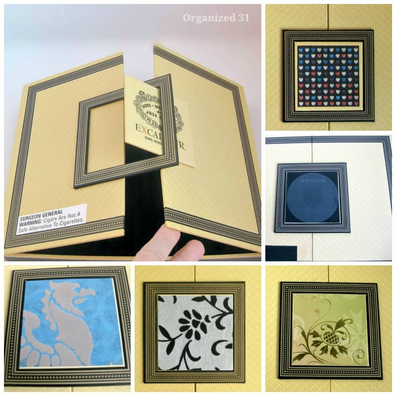 Repurposed Cigar Boxes -Organized 31