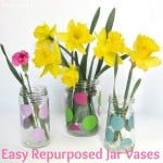 Easy Repurposed Jar Vase
