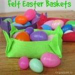Last Minute Felt Easter Basket