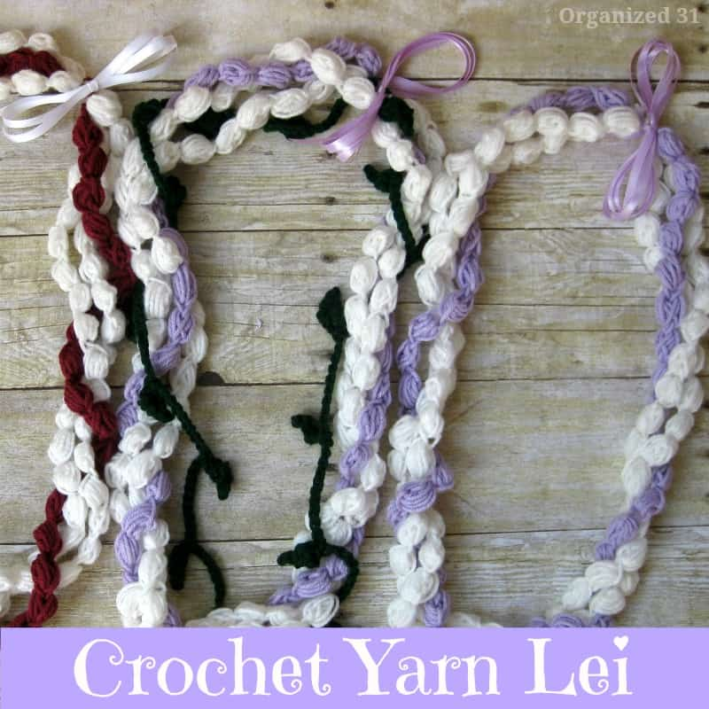 Crochet Yarn Lei - Organized 31