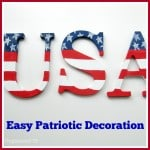 Easy Painted Patriotic Decoration