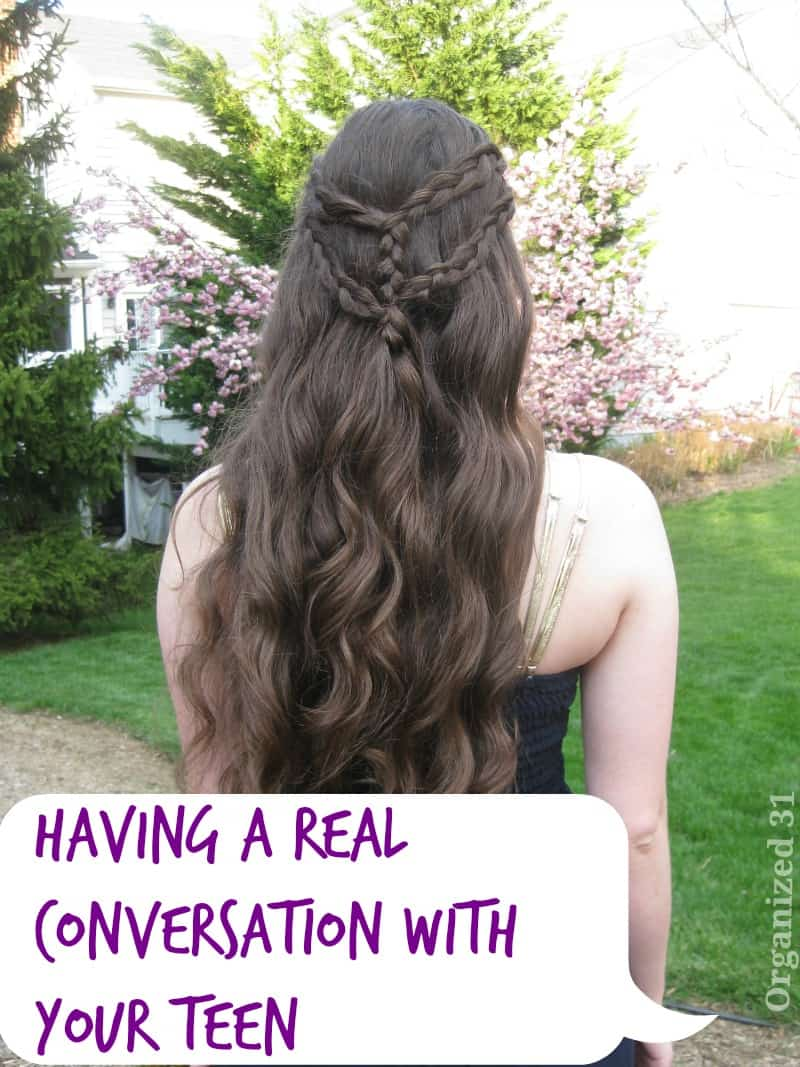 Tips fpr having real conversation with your teen - Organized 31 ?#?FamilyTalk? ?#?MC? ?#?sponsored?