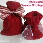 Repurposed Sweater Sleeve Gift Bag - Organized 31