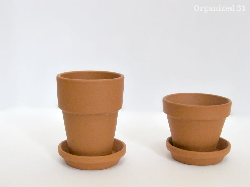 Stencil Glitter Plant Pots - Organized 31