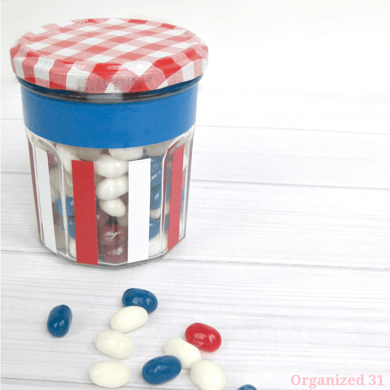 Easy Patriotic Upcycled Jar - Organized 31