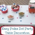 Easy Polka Dot Party Table Decoration