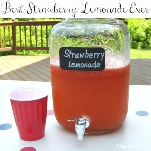 Best Strawberry Lemonade Ever - Organized 31