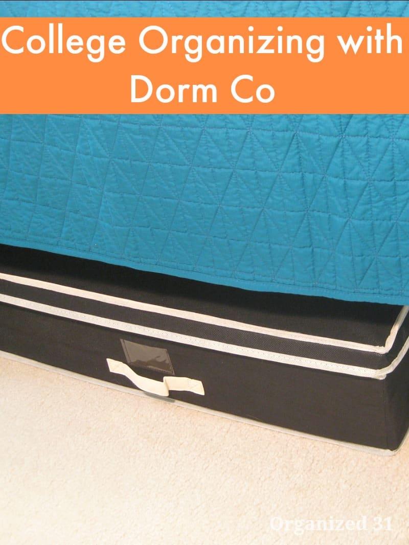 Dorm Room Organizing - Organized 31 #sponsored #DormCo