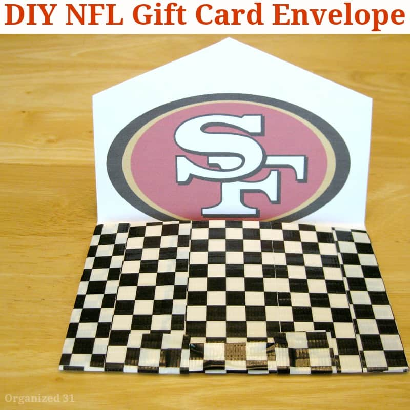 DIY Football Fan Gift Envelope - Organized 31