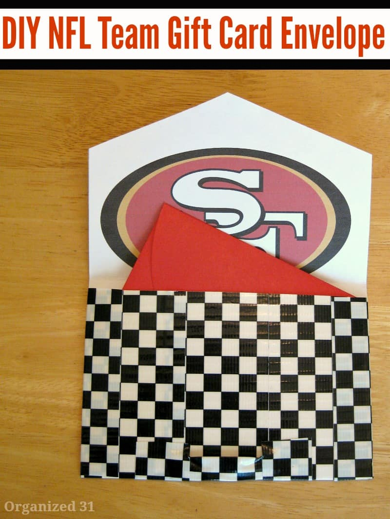 DIY Football Fan Gift Card Envelope - Organized 31