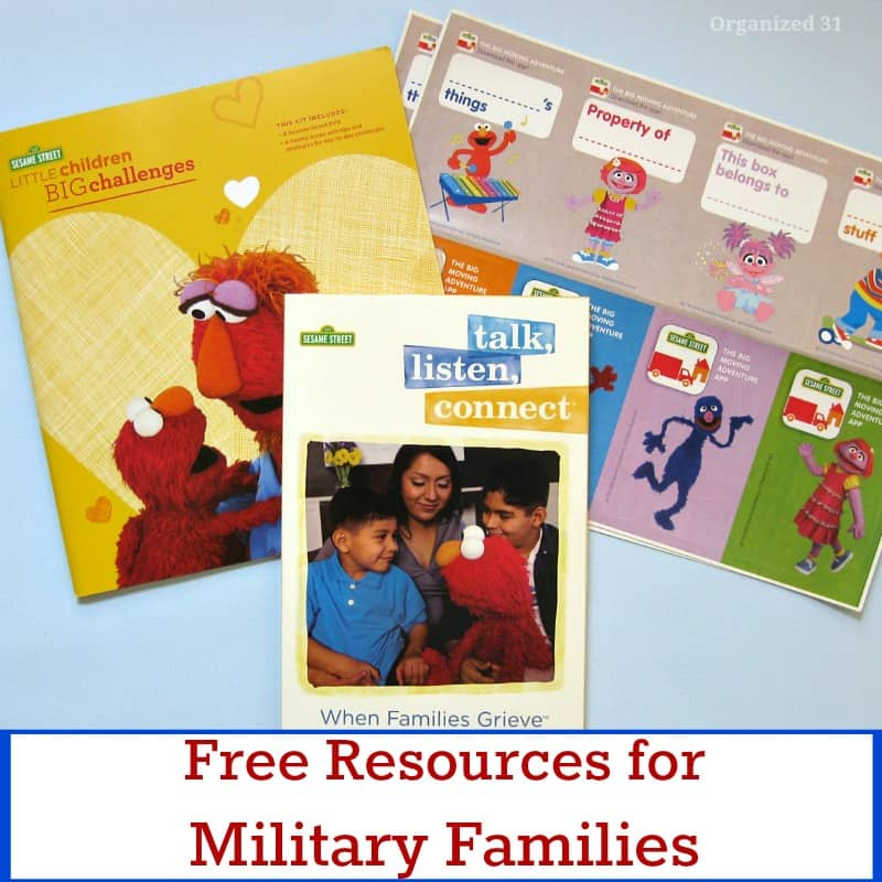 Free Resources for Military Families - Organized 31