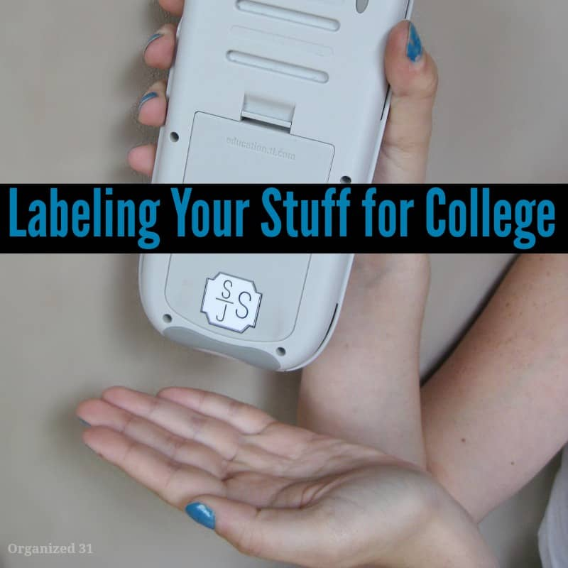 Labeling Your Stuff for College - Organized 31 #Kidecals #sponsored