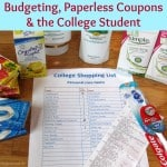 Budgeting, Paperless Coupons and the College Student