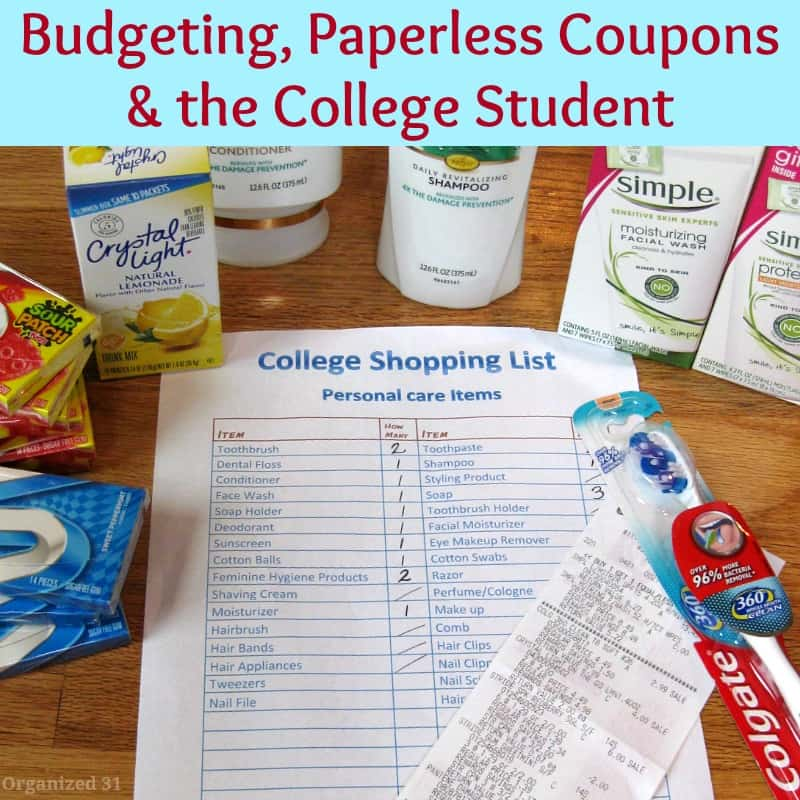 Budeting, Paperless Coupons & the College Student - Organized 31 #WalgreensPaperless #shop