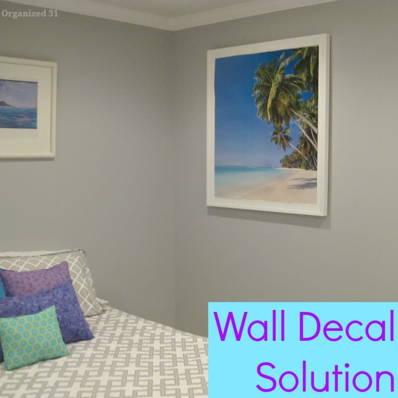 Decorating Solution from WallPops for an Awkward Wall  - Organized 31 #sponsored