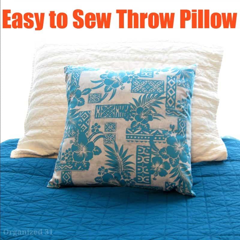 Throw Pillows To Sew : Easy to Sew Throw Pillow - Organized 31