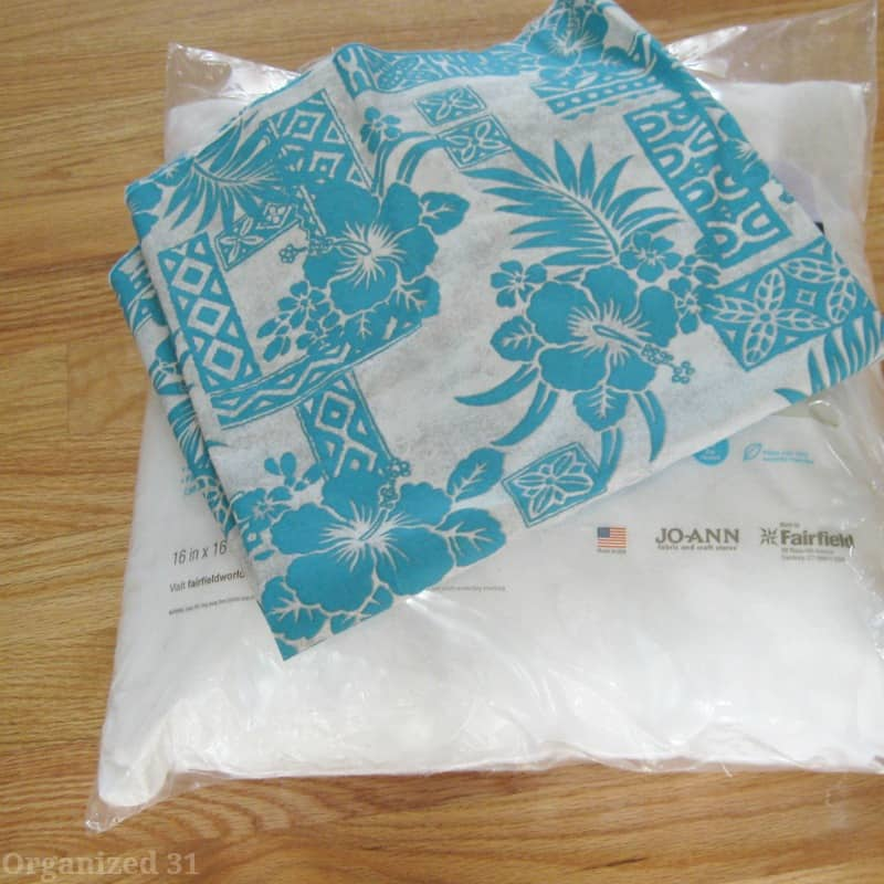 Easy to sew throw pillow -Organized 31