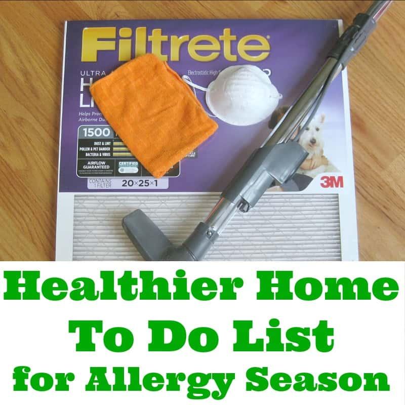 12 tips for a healthier home To Do List #HealthierHome #sponsored - Organized 31