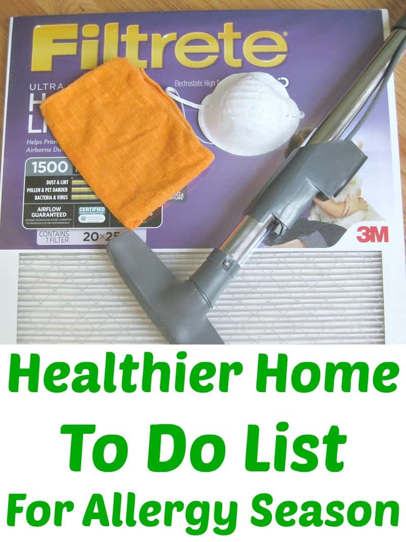 12 tips for a healthier home To Do List #HealthierHome #sponsored - Organized 31