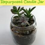 Repurposed candle jar - Organized 31