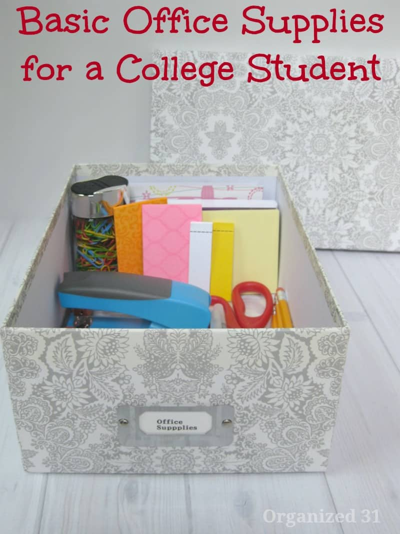 Office Supplies for College Students - Organized 31