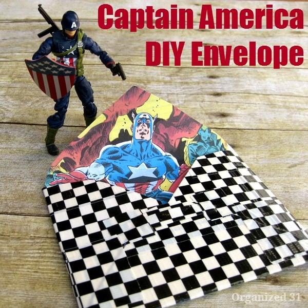 Captain America DIY Envelope sq