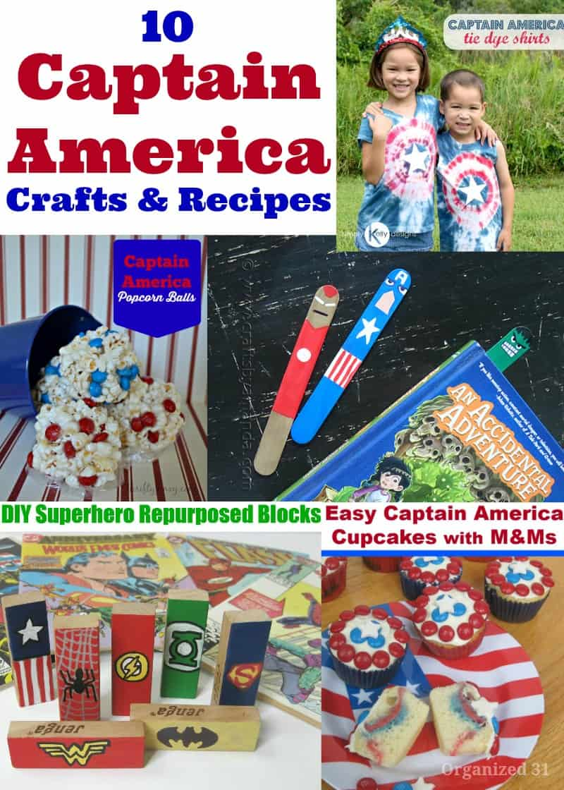 Captain America DIY Crafts and Recipes - Organized 31