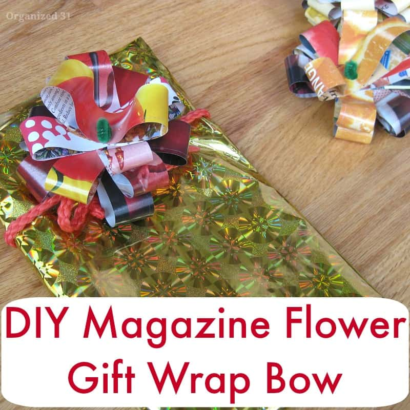 DIY Magazine Flower Bow sq