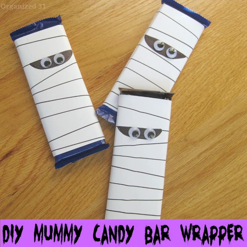 DIY Mummy Candy Bar Wrappers - Organized 31