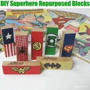 DIY Superhero Repurposed Blocks -