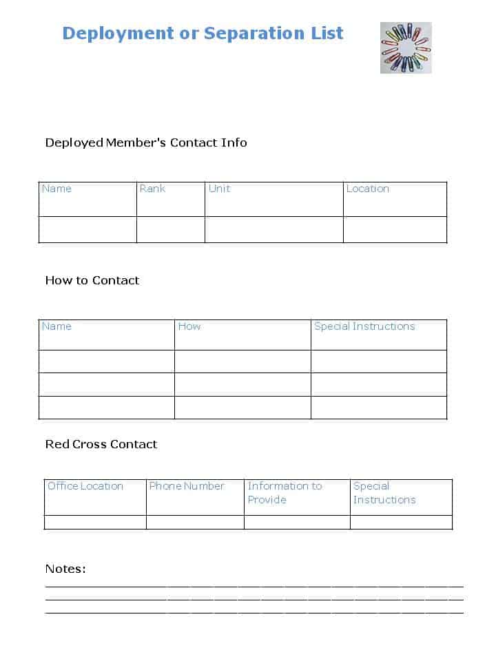 DIY Personal Emergency Contact Checklist - Organized 31