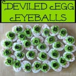 Deviled Egg Eyeballs for Halloween - Organized 31