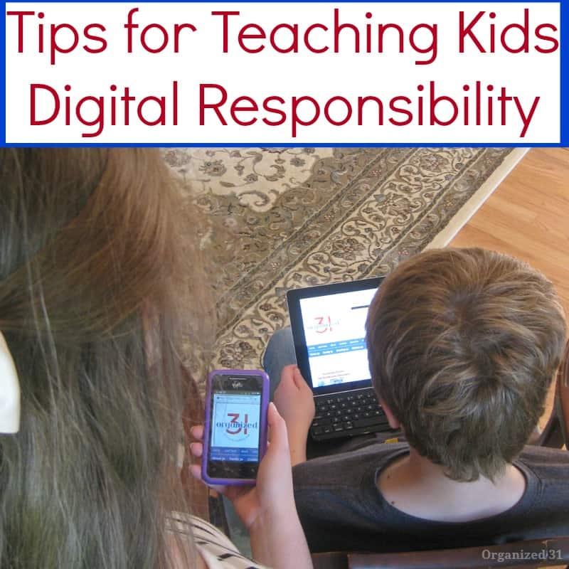 Teaching Kids Digital Responsibility - Organized 31 #ShareAwesom #CG #sponsored