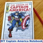 DIY Captain America Notebook