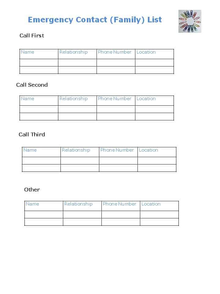 DIY Personal Emergency Contact Checklist - Organized 31