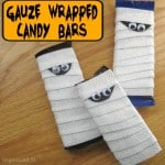 Halloween Gauze Wrapped Candy Bars