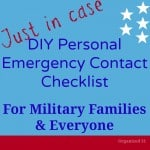 Personal Emergency Contact Checklist