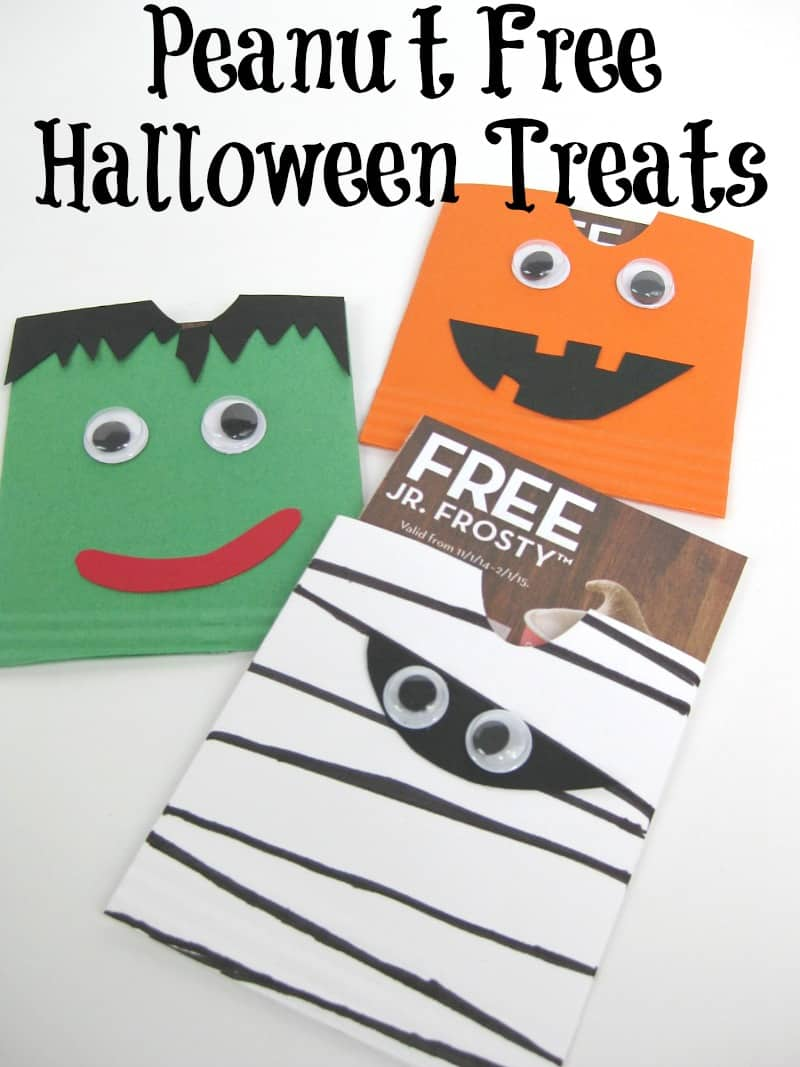 Peanut Free Halloween Treat Envelope - Organized 31 #Frosty4Adoption #sponsored