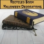 Recycled Book Halloween Decorations