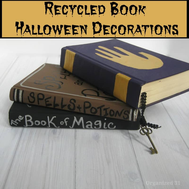 decorated books made to look like spell books