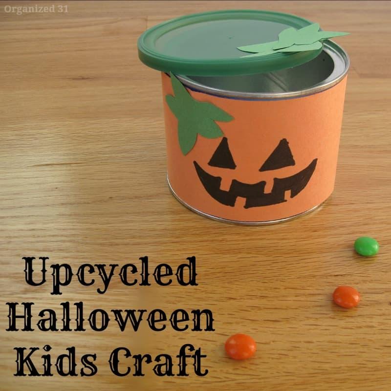 Upcycled Halloween Kids Craft - Organized 31
