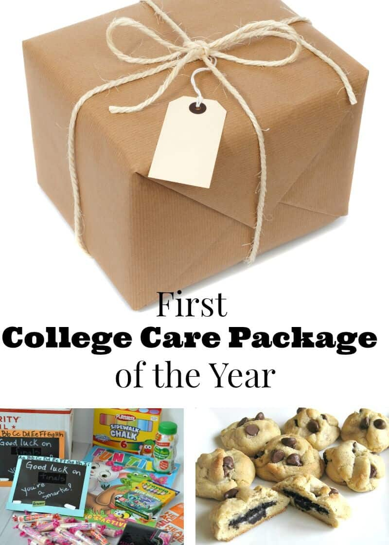Ideas for the first college care package of the year. Show your favorite student how much you care and that you're thinking of them with these simple ideas.