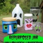 Repurposed Plastic Bottle & Jar Halloween Luminary Decorations