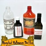 Upcycled Halloween Bottles - Organized 31