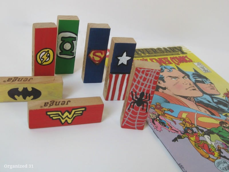 DIY Superhero Repurposed Blocks - Organized 31